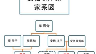 岸信夫, 家系図, 安倍晋三, 苗字, 養子